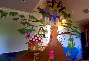 Childrens Tree House Mural
