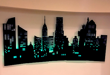 Foam New York Skyline Prop