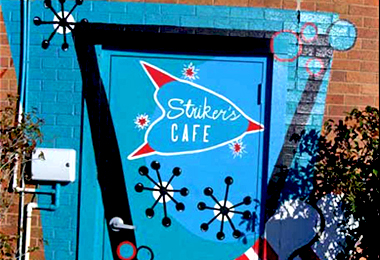 Strikers Cafe Mural